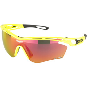 Rudy Project Tralyx Okulary rowerowe, yellow fluo gloss - rp optics multilaser orange